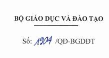 Ban hành quy định kỹ thuật về dữ liệu của hệ thống CSDL ngành về GDMN và GD Phổ Thông